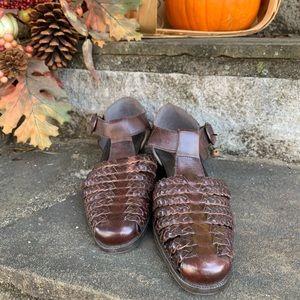 VINTAGE Nicole Woven Fisherman Sandal   Size 6.5/7